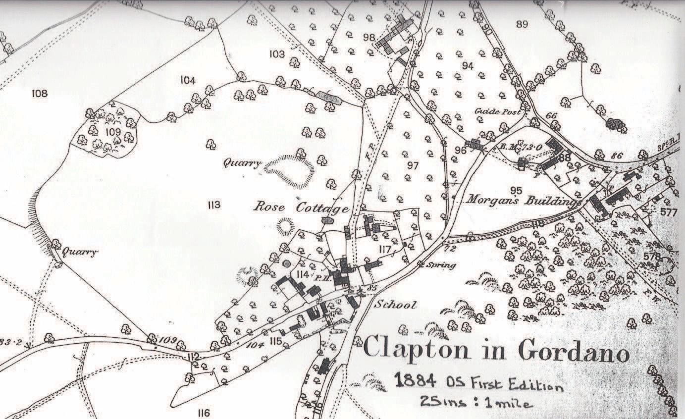 clapton in gordano map